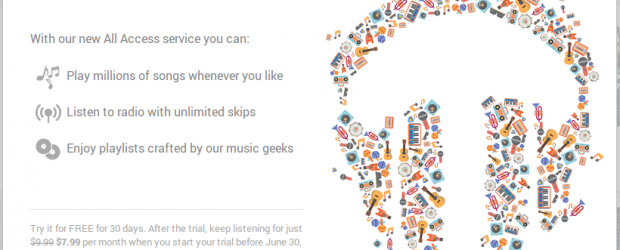 Google Play Music All Access にアップデートされてた